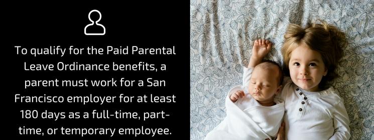 Paid Parental Ordinance Benefits